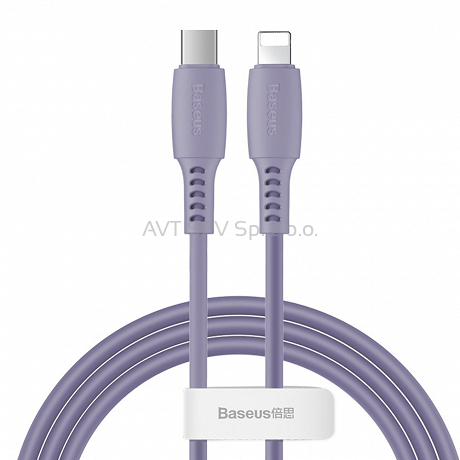 Kabel USB-C / Lightning PD 18W 1.2m Baseus Colourful fioletowy