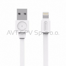 Kabel Allocacoc USBcable Apple Lightning Flat biały