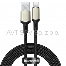 Nylonowy kabel USB-C VOOC QC3.0, 5A, czarny, 2m Baseus Cafule Cable