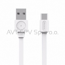 Kabel Allocacoc USBcable USB-C Flat biały