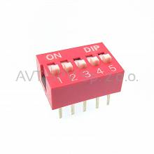 DIP-Switch 5 sekcji