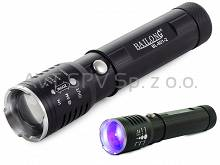 Latarka LED + UV, zoom, 801-2 BAILONG