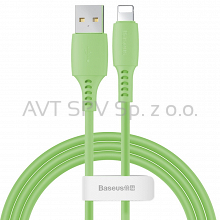 Kabel USB / Lightning 2.4A 1.2m Baseus Colourful zielony