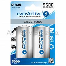 Akumulator R20 (D) NiMH 1.2V 5500mAh ready to use Silver line, 2szt
