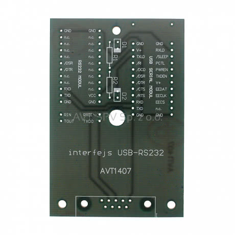 Modułowy interfejs USB - RS232 - [PCB do AVT1407]