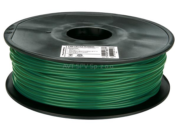 Filament PLA 1.75mm zielony (pini) 1kg