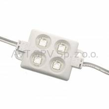 Moduł LED 4x1 12VDC SMD5050 zielony IP65