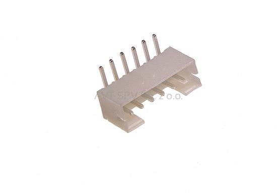 Wtyk KNX 6 pin, kątowy do druku, raster 2mm, do gniazda KNX-G06