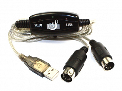 Adapter USB do midi (DIN5-DIN5)