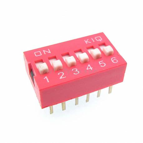 DIP-Switch 6 sekcji