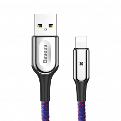 Baseus kabel X-type USB - 8-pin, 0.5 m, fioletowy 2.4A CALXD-A05
