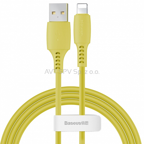 Kabel USB / Lightning 2.4A 1.2m Baseus Colourful żółty