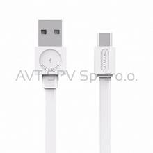 Kabel Allocacoc USBcable microUSB Flat biały