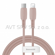 Kabel USB-C / Lightning PD 18W 1.2m Baseus Colourful różowy