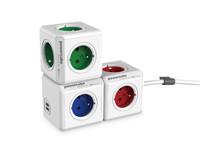 Przedłużacz PowerCube Extended 3m, rozgałęźnik 5 gniazd, czerwony
